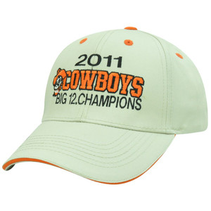 NCAA Oklahoma State Cowboys 2011 Big 12 Conference Champions Velcro Beige Hat