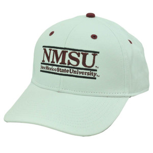 HAT CAP NEW MEXICO STATE AGGIES SNAPBACK NCAA BAR RETRO GAME WHITE RED MAROON