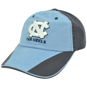 NCAA North Carolina Tar Heels Garment Wash Sun Buckle Flip Light Blue Hat Cap