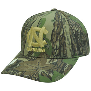 NCAA North Carolina Tar Heels Camouflage Camo Velcro Adjustable Outdoors Hat Cap