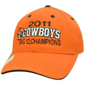 NCAA Oklahoma State Cowboys 2011 Big 12 Conference Champions Velcro Orange Hat