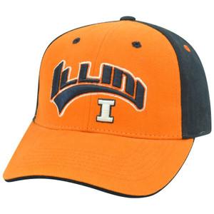 Illinois Fighting Illini NCAA Two Tone Arch Orange Adjustable Velcro Hat Cap