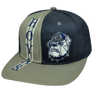 NCAA GEORGETOWN HOYAS SNAPBACK OLD SCHOOL FLAT BILL HAT