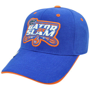 NCAA Florida Gators 2006 - 2007 National Champions 3x Times Slam Velcro Hat Cap