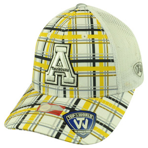 NCAA Top of the World Appalachian Mountaineers Empire Plaid Mesh Buckle Hat Cap