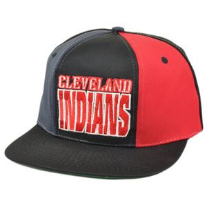 MLB Cleveland Indians Snapback Flat Bill Old School Vintage Hat Cap Dead Stock