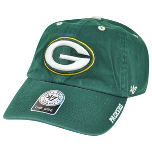 '47 Brand NFL Green Bay Packers Ice Garment Wash Adjustable Snap Buckle Hat Cap