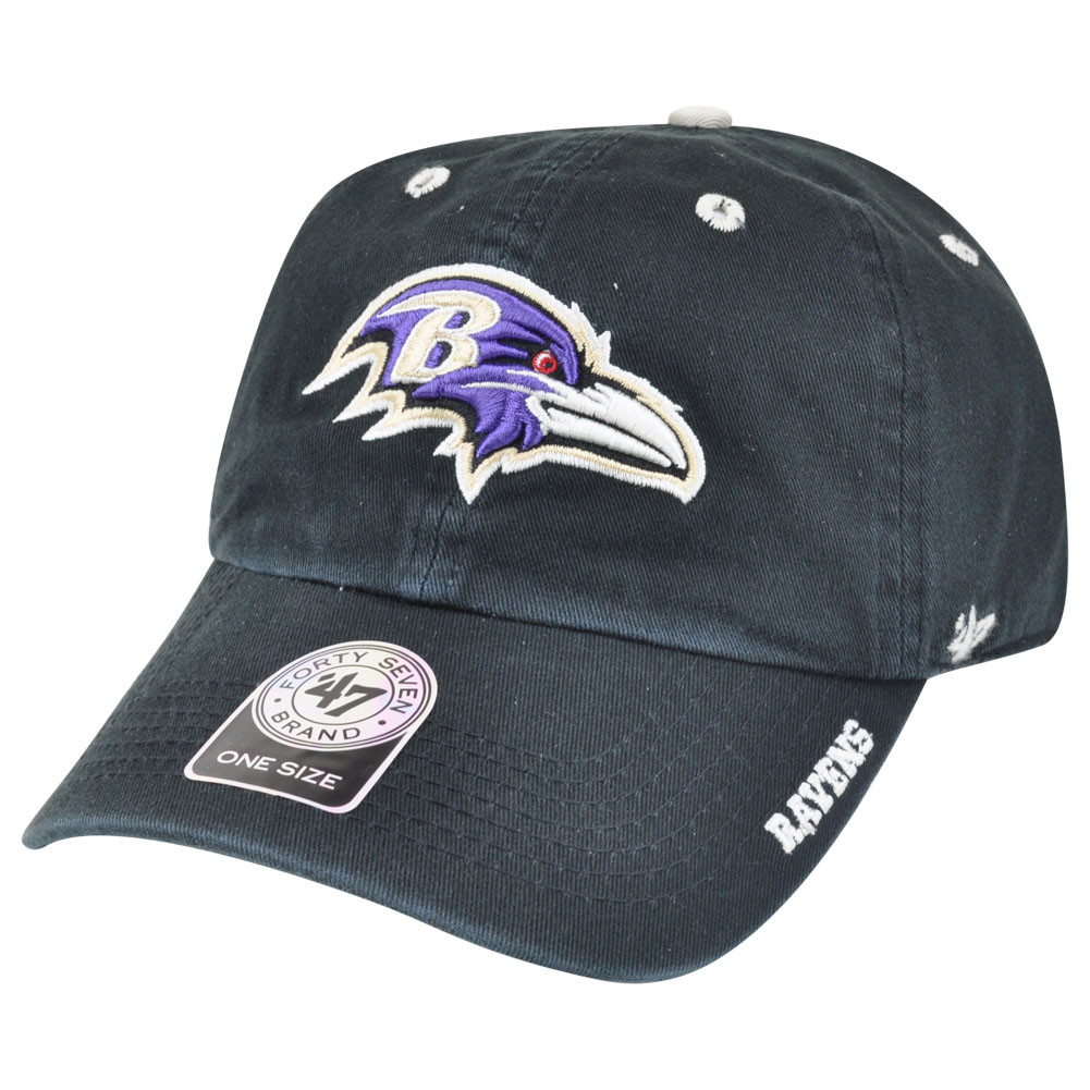 3087ab74a75 ... NFL Baltimore Ravens Ice Garment Wash Adjustable Snap Buckle Hat Cap.  Image 1