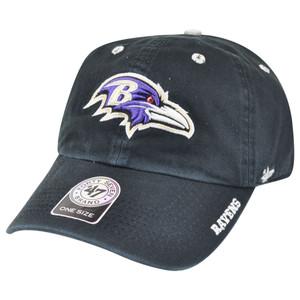 '47 Brand NFL Baltimore Ravens Ice Garment Wash Adjustable Snap Buckle Hat Cap