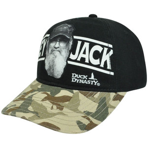 A&E Duck Dynasty Series Camouflage Si Hey Jack Distressed Clip Buckle Hat Cap