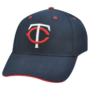 MLB Minnesota Twins 3D Baseball Hat Cap Navy Blue Red White Licensed Constructed