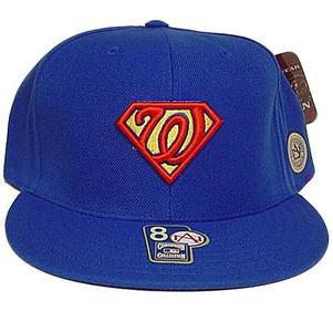 Washington Senators Superman Comics Cooperstown American Needle Fitted 8 Hat Cap