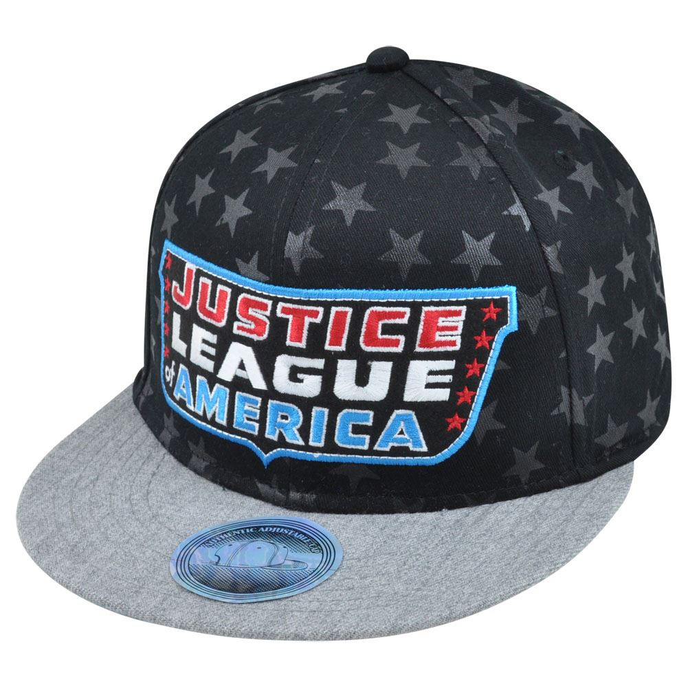 DC Comics Justice League of America Heroes Faces of Courage Snapback ... 89af27ac907b