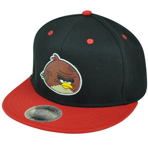 Angry Birds Big Brother Bird Terence Game App Rubber Snapback Flat Bill Hat Cap