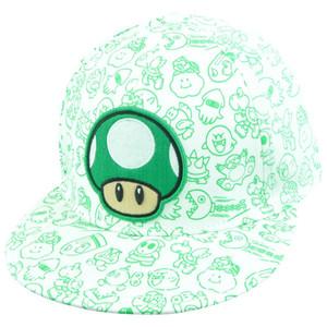 Nintendo Super Mario Bro 1-Up Mushroom Character Flat Bill Flex Fit L/XL Hat Cap