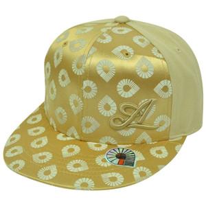 Akademiks Urban Urban Clothing Hip Hop Music Snapback Gold Satin Hat Cap 7 1/2