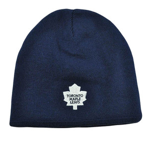 NHL LNH Reversible Zephyr Kids Womens Beanie Knit Nordic Hat Toronto Maple Leafs