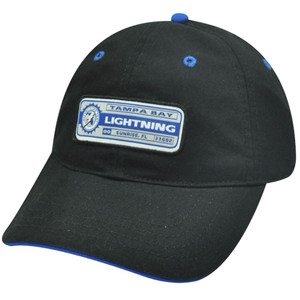 NHL TAMPA BAY LIGHTNING GARMENT WASHED HAT CAP BLACK