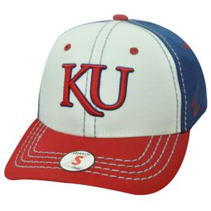 NCAA FLEX FIT KANSAS JAYHAWKS SMALL BASEBALL HAT CAP