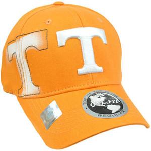NCAA Tennessee Volunteers Vols Hat Cap Flex Fit Stretch Top of the World Orange