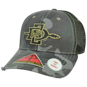 NCAA San Diego Aztecs Deliverance Pro Pocket Camouflage Flex Fit Hat Cap M/L
