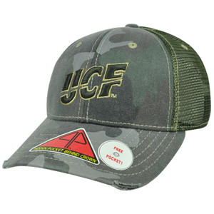 NCAA Central Florida Knights Deliverance Pro Pocket Camo Flex Fit Hat Cap M/L