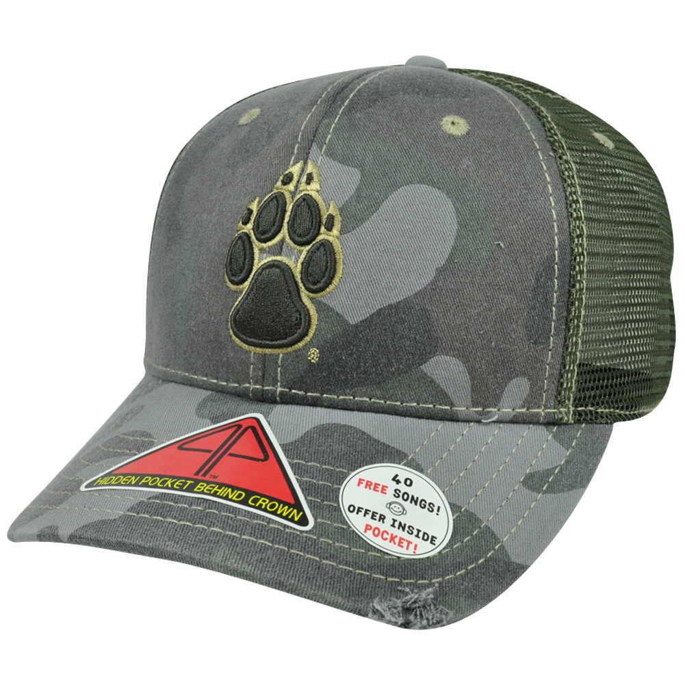 aa28bbf9e8d NCAA New Mexico Lobos Deliverance Pro Pocket Camouflage Flex Fit Hat ...