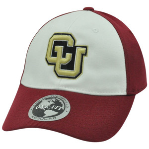 NCAA Colorado Buffaloes Two Tone Stretch Flex Fit One Size Curved Bill Hat Cap