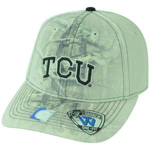 NCAA TCU Texas Christian Horned Frogs Battle Fade Camo Flex Fit One Size Hat Cap