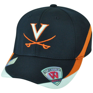 27550a4cada NCAA Top of the World Virginia Cavaliers Back Nine Rookie Youth Flex Fit Hat  Cap
