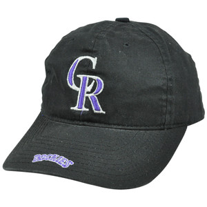 MLB Colorado Rockies Vintage Retro Relaxed Slouched Fit Logo Athletic Hat Cap
