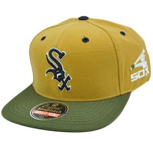 MLB American Needle Blockhead Earthtone Wool Snapback Cap Hat Chicago White Sox
