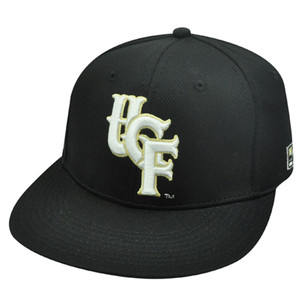 NCAA FITTED CAP HAT CENTRAL FLORIDA KNIGHTS BLACK 7 NEW