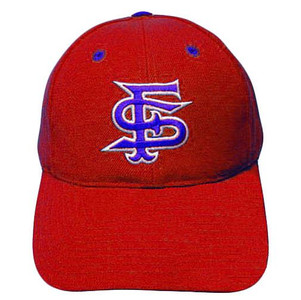 NCAA FITTED CAP HAT SIZE 7 1/8 FRESNO BULLDOGS RED WOOL