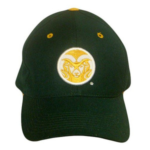 NCAA FITTED CAP HAT COLORADO STATE RAMS FIT SIZE 7 NEW