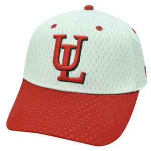 NCAA FITTED CAP HAT LAFAYETTE LEOPARDS WHITE RED SIZE 7