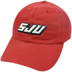 FITTED COTTON WASH CAP HAT SAINT JOHN'S RED STORM SMALL