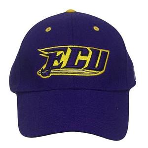 NCAA FITTED CAP HAT EAST CAROLINA PIRATES PURPLE 7 1/8