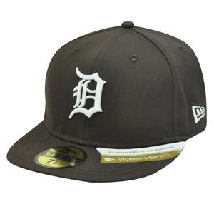MLB DETROIT TIGERS BROWN HAT CAP FIT 6 7/8 LADY WOMEN