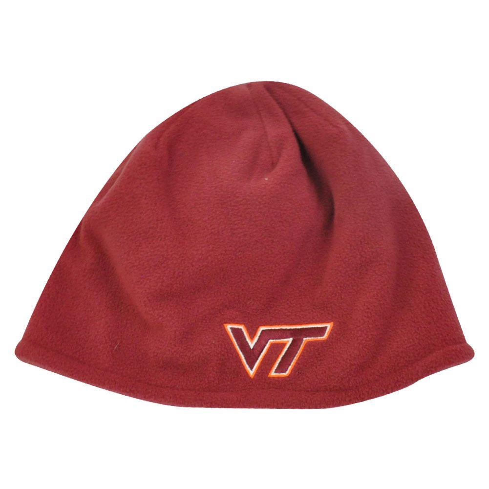 NCAA Adidas Virginia Tech Hokies Red Cuffless Beanie Hat Toque ... 32353e572b08