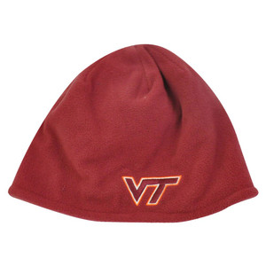 NCAA Adidas Virginia Tech Hokies Red Cuffless Beanie Hat Toque Skully Licensed