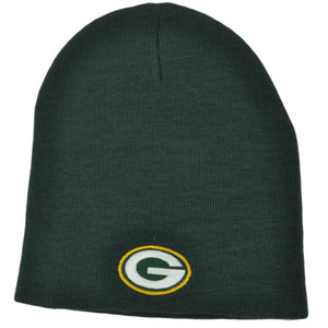 NFL BEANIE KNIT HAT CAP CUFFLESS GREEN BAY PACKERS OSFA