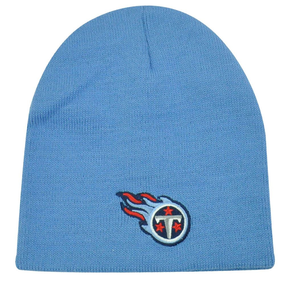 9750e6d6653 NFL TENNESSEE TITANS LIGHT BLUE CUFFLESS LICENSED BEANIE KNIT HAT SKULLY  TOQUE. Image 1