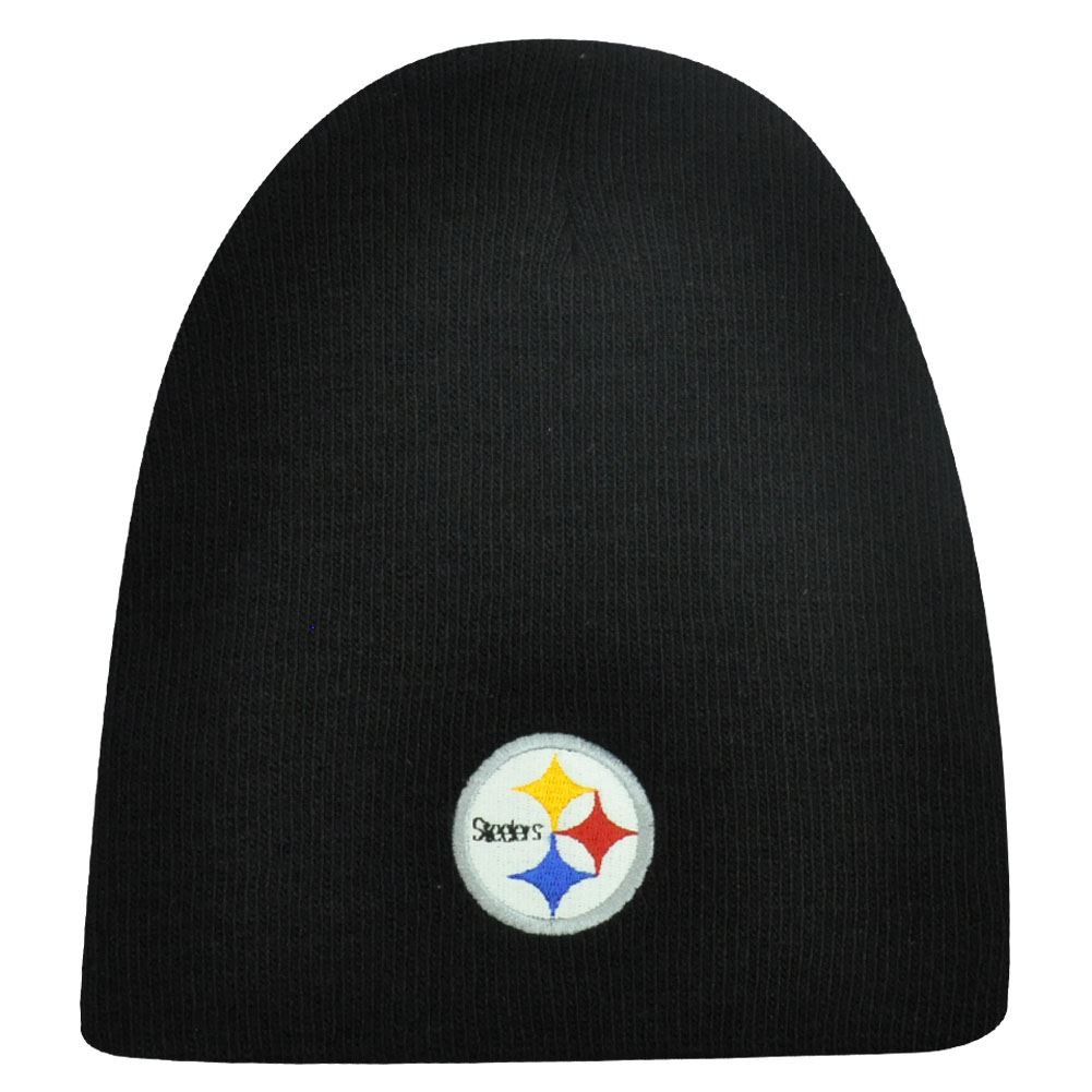 7a86cd58918 NFL CUFFLESS BEANIE KNIT HAT PITTSBURGH STEELERS TOQUE - Cap Store ...