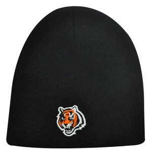 NFL Cincinnati Bengals Black Cuffless Beanie Knit Toque Skully Hat Acrylic Adult