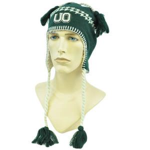 NCAA Zephyr Alpine Tassel Knit Beanie Hat Ear Flaps Toque Oregon Ducks UO