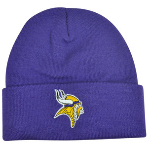 NFL Minnesota Vikings Knit Beanie Albion Skully Hat Toque Cuffed Basic Logo
