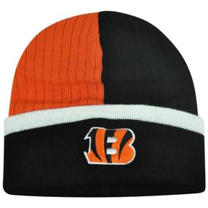 3215845713d NFL Cincinnati Bengals Skully Toque Almondine Cuffed Split Knit Acrylic  Beanie