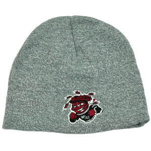 18d956471b7b1 NCAA WSU Wichita State Shockers Heather Grey Cuffless Knit Toque Beanie  Skully