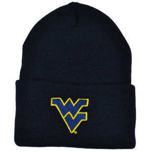 a034ba7491300 NCAA West Virginia Mountaineers Cuffed Acrylic Winter Knit Beanie Toque  Skully